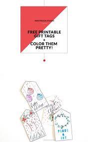 Download Free Printable Christmas Gift Tags That You Can Color By Zakkiya Hamza Of Inkstruck Studio