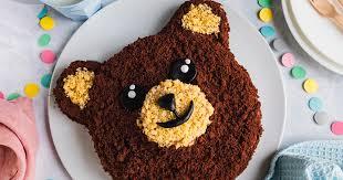 bärentorte einfacher kindergeburtstags kuchen