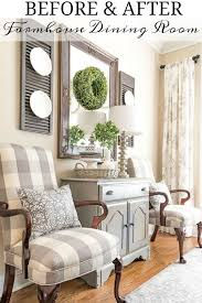 Gray And White Farmhouse Dining Room Makeover Diningroomdecor Diy