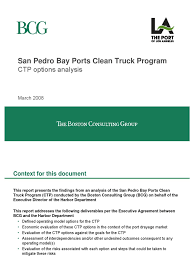 BCG - Clean Truck Program Final PPT   Truck Driver   Sustainability Trucks World News Clean Truck Program Usa Seattle Port Readies Closing Out Long Battle To Take Effect In The Hunts Point Competitors Revenue And Employees Nwsas Scraps An Old Truck Youtube Chapter 3 Publicsector Perspectives Guide Deploying Memorandum Port Of Siderlinoa Us Marines With Combat Logistics Regiment2 Clean Vehicles Prior With 10 Years Los Angeles Beach Announces 500 Milest Flickr Of Ccsionaires May 2015 Tdec Archives Tncleanfuels