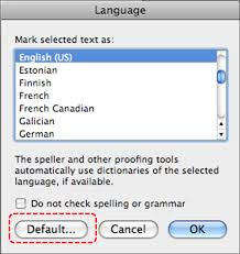 Image Demonstrates Location Of Default Button In Language Dialog