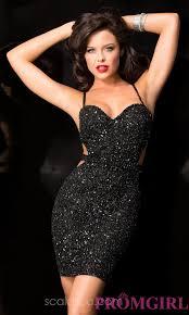 sequin open back scala dress promgirl
