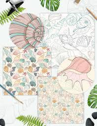 100 Sea Shell Design Mespilia Shell Design Set