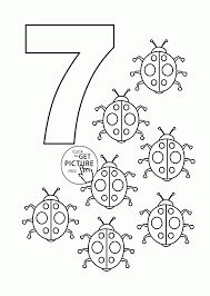 Number 7 Coloring Page Pages For Kids Counting Sheets Printables Free Download