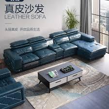 echtes leder schnitts sofa elektrische liege wohnzimmer sofa l alon puff asiento muebles de sala luft reiniger lautsprecher