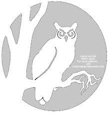 Owl Pumpkin Template by Pattern Owl Halloween Owl Stencil U2013 Free Pumpkin Carving Stencil