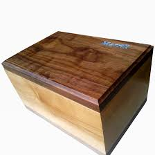 Custom Made Maple And Walnut Keepsake Box With Turquoise Inlay