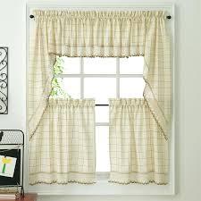 ecru toast woven kitchen tier curtains drapes walmart moute
