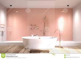 rosa badezimmer mit weißen fliesen stock abbildung