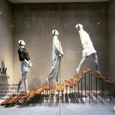 HM HENNESMAURITZ Paris France Look Up There Window Display Design Shop