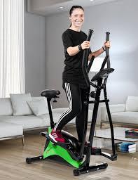 crosstrainer heimtrainer asviva c16 bluetooth grün 2 in 1 cardio