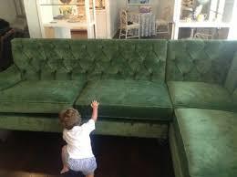 Tufted Velvet Sofa Bed by Custom Green Tufted Velvet Sectional Projectholly By Bailey