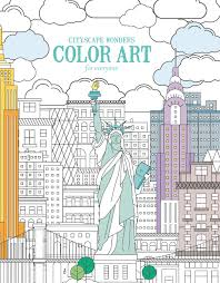 Enjoy Creative Entertainment With Cityscape Wonders Color Art For Everyone An Adult Coloring Book From Leisure Arts And The Guild Of Master Craftsman
