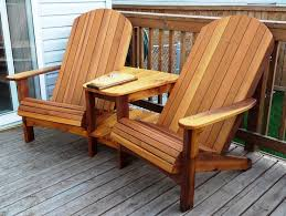 Free Wood Outdoor Furniture Plans by Fabulous Adirondack Chair Bench Double Adirondack Chair Plans Free