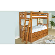 world furniture twin over twin honey convertible bunk bed