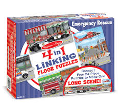 100 Melissa And Doug Fire Truck Puzzle Emergency Rescue Linking Floor 96 Pc