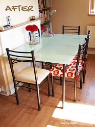 Dining Room Chairs For Glass Table by Painting A Glass Table Top Hometalk