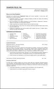 Sample Staff Nursing Resume Two Pages Resumes Example New Grad Nurse Pa
