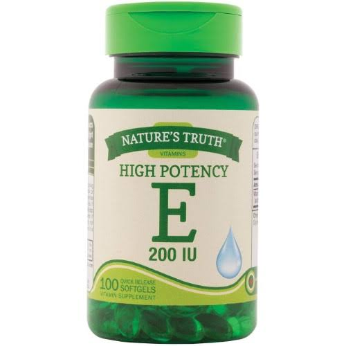Nature's Truth High Potency E 200 IU Quick Release - 100 Softgels