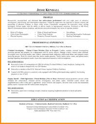 Police Officer Resume Templates Of Military Example Free Law Enforcement Sample