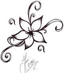 Cute Flower Designs To Draw Tattoo