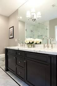 Black Double Bath Vanity With Wilshire Sconce