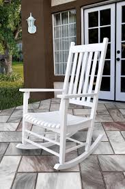 Shine Vermont White Solid Wood Porch Rocker   Modern ... Front Porch Of House With White Rocking Chairs On Wooden Two Wood Rocking Chair Isolate Is On White Background With Indoor Chairs Grey Wooden Northbeam Acacia Outdoor Stock Image Yellow Fniture Club By Trex In Photo Free Trial Bigstock Small Old Toy Edit Now Karlory Porch Rocker 100 Pure Natural Solid Deck Patio Backyard Living Room Black Isolated