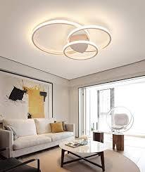 moderne dimmbare led deckenleuchte ring design deckenleuchte mit fernbedienung metall acryl deckenleuchte schlafzimmer küche esszimmerleuchten