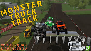 100 Monster Truck Simulator MONSTER TRUCK TRACK Farming 2017 YouTube