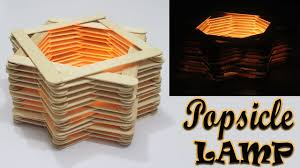 Diy Room DEcor How To Make A Popsicle Stick Lamp Easy Crafts