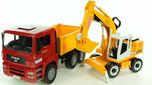 Bruder Construction Truck And Digger |