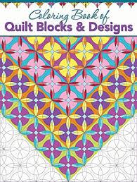 Creative Haven Patchwork Quilt Coloring Book Of Blocks Designs Grandmas Quilts
