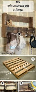 An Easy Tutorial For A DIY Wall Rack With Storage From Pallet Wood Istandarddesign