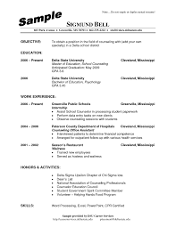 Sample Resume Overseas Education Counselor Valid School Examples Physic Minimalistics