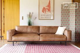 mandel 3 sitzer sofa braun