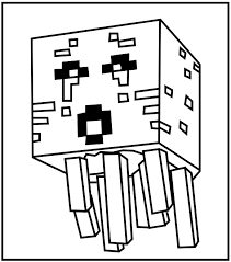Minecraft Diamond Coloring Pages