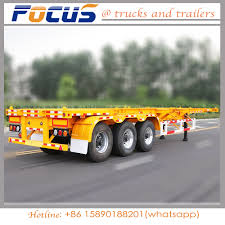 100 Semi Truck Spare Tire Carrier 40 Feet 3 Axles Skeleton CargoContainer Trailer