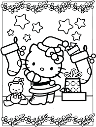 Free Printable Coloring Pages Hello Kitty Christmas Valentine Mermaid Full Size