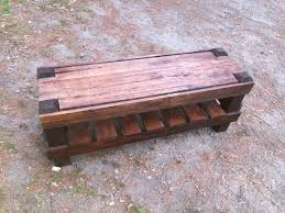 DIY Outdoor Pallet Bench With A Storage Space Via 1001pallets