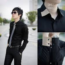 Mens Cheap Shirts Men Dress Clothing Designer Black For MS074