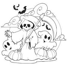 13 Ghost Halloween Coloring Pages