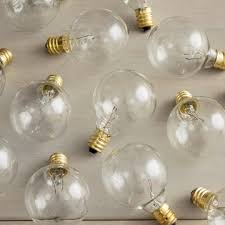 replacement globe light bulb g40 5w 130v e12 base clear 25 pack