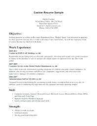 Cashier Example Resume For To Sample Writing Duties