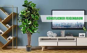 details zu 1 5 m kunstpflanze kunstbaum zimmerpflanze dekopflanze künstlicher feigenbaum