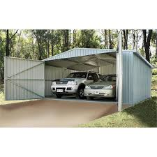 Absco Sheds Mitre 10 by Absco Sheds 5 6 X 5 5 X 2 66m Double Barn Door Compact Garage