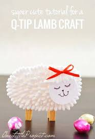 Simple Crafts For Kids To Make Q Tip Lamb Craft Handmade