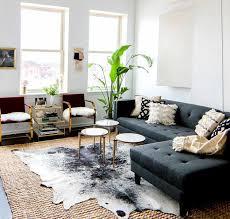 kuhfell teppich als deko in der einrichtung für beliebige