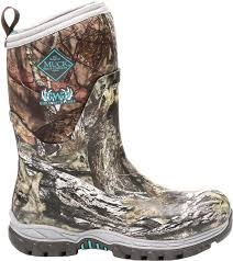 muck boot women u0027s girls with guns arctic hunter mid mossy oak
