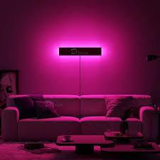 nordic rgb led wand le für schlafzimmer nacht wohnzimmer home dekoration wand licht bunte innen café leuchten