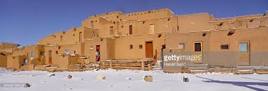Pictures Of Adobe Houses by Usa New Mexico Taos Taos Pueblo Adobe Houses Covered In Snow Stock